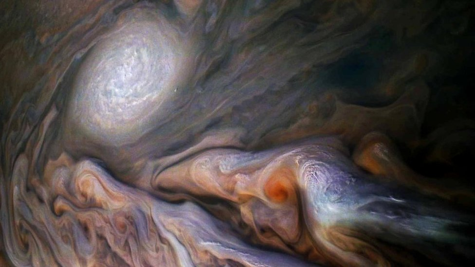 Nasa's Jupiter mission Juno reveals giant polar storms