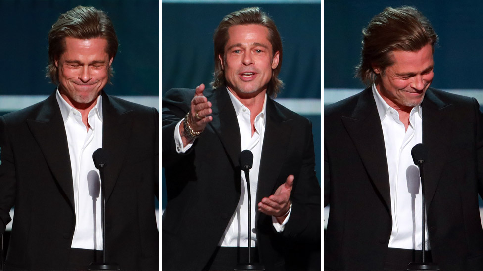 Brad Pitt Screen Actors Guild Awards ödül töreninde