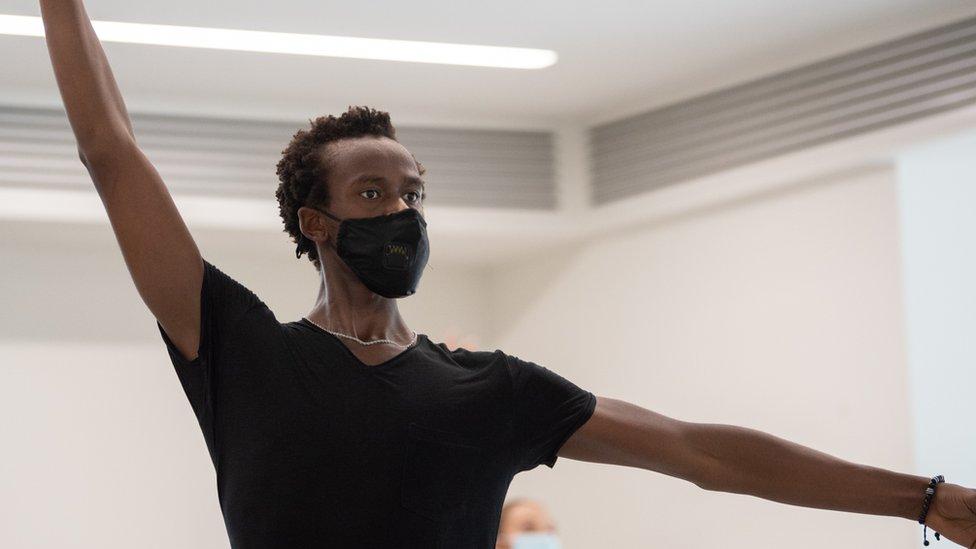 Joel Kioko, in ballet class