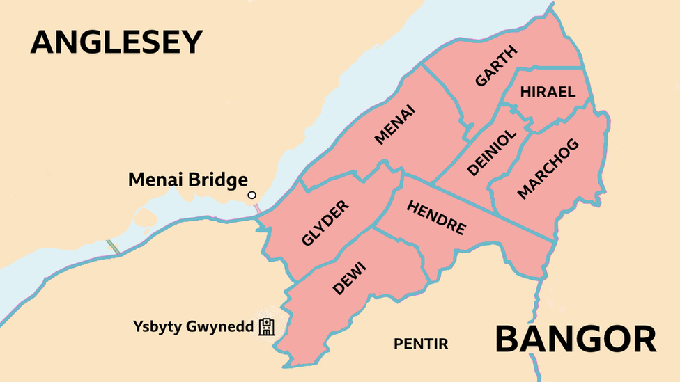 map of lockdown areas of Bangor