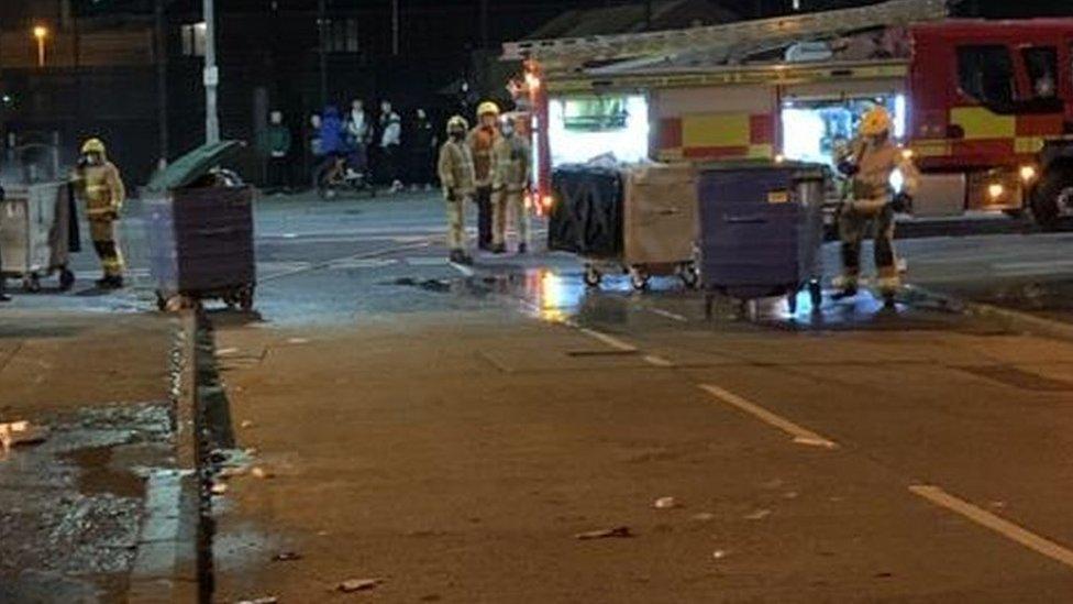 Police at scene of incident in north Belfast