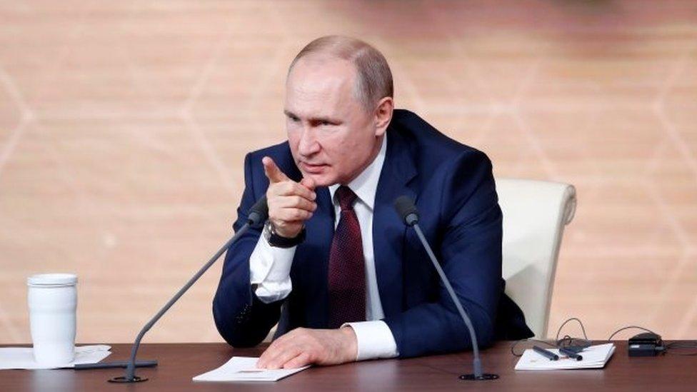 Vladimir Putin en su conferencia de prensa anual