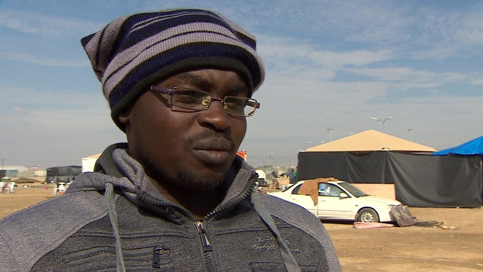 Sudanese man in Holot camp in Israel