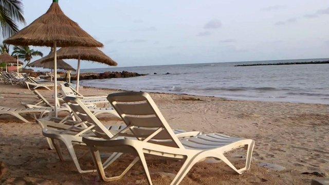 Beach in Saly, Senegal