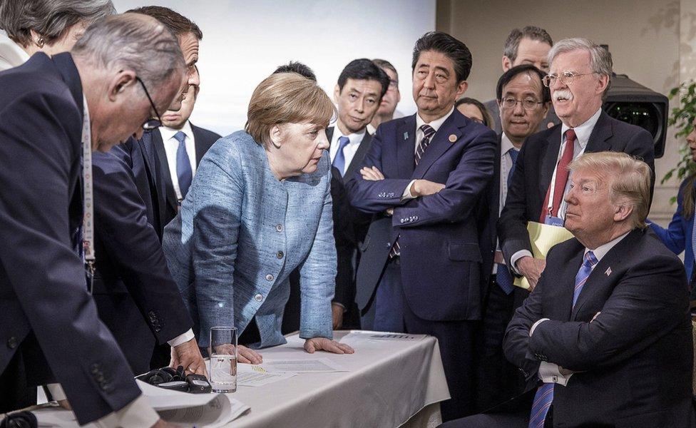 Donald Tramp na samitu G7
