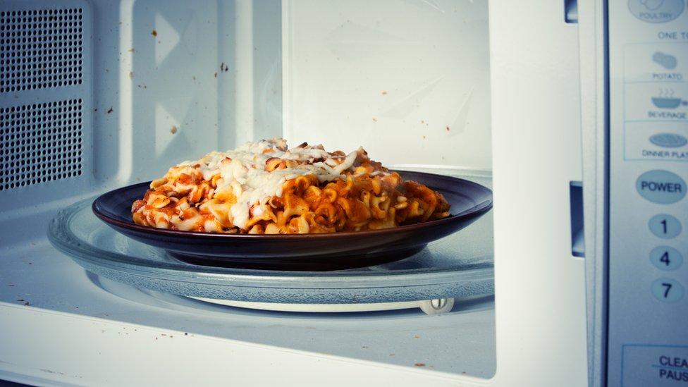Comida en el microondas