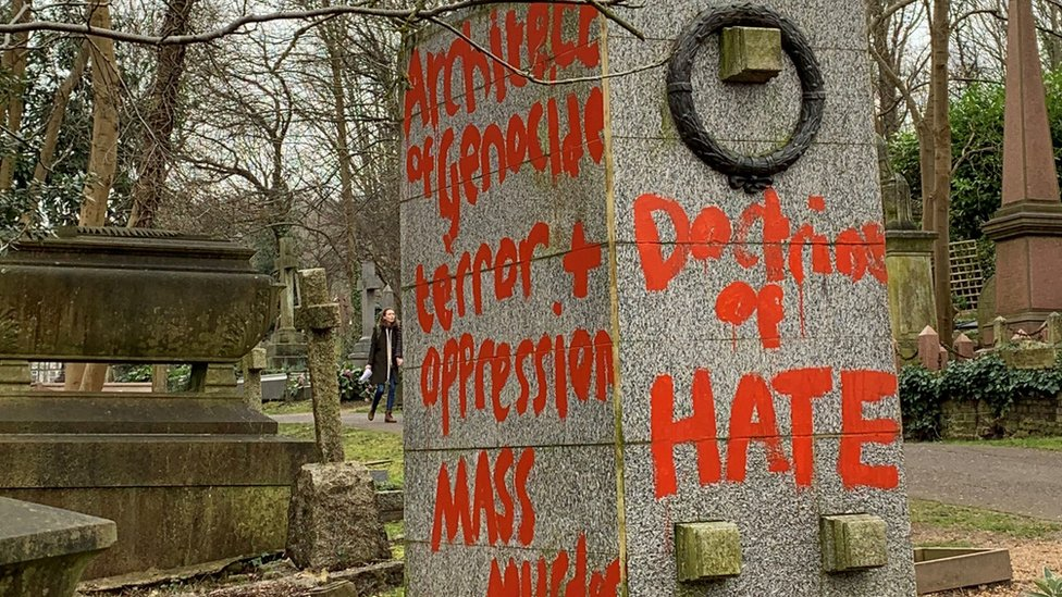Karl Marx: Monument vandalised for second time in two weeks