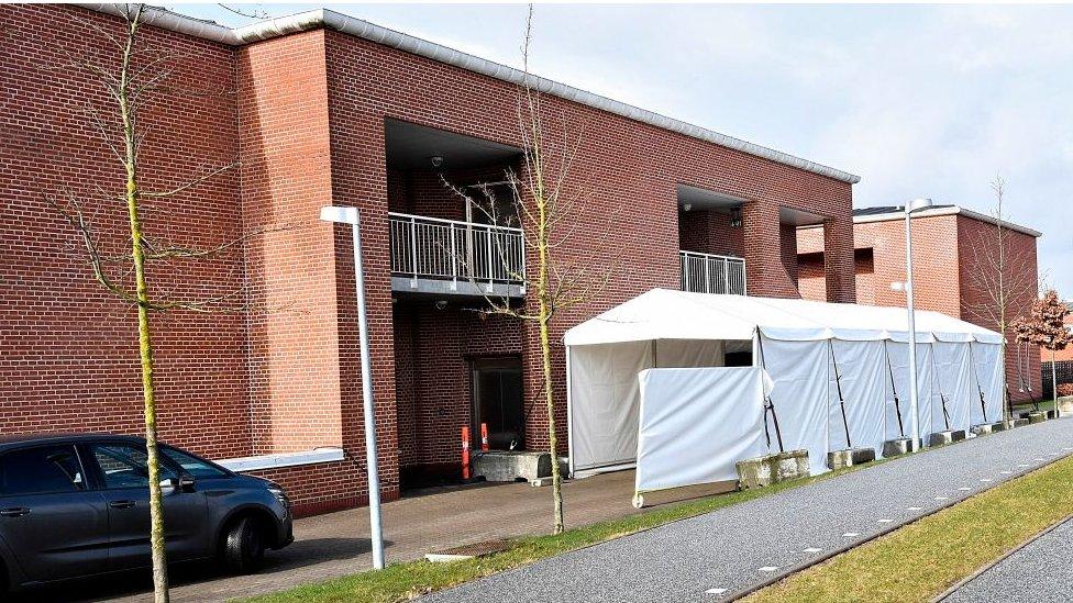 Mobile testing centre in Denmark