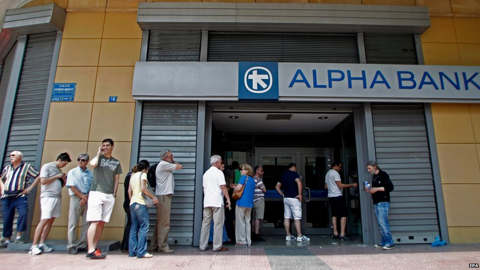 Bank in Athens, 28 June 2015