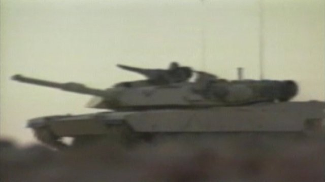 Tank in Gulf War 1991