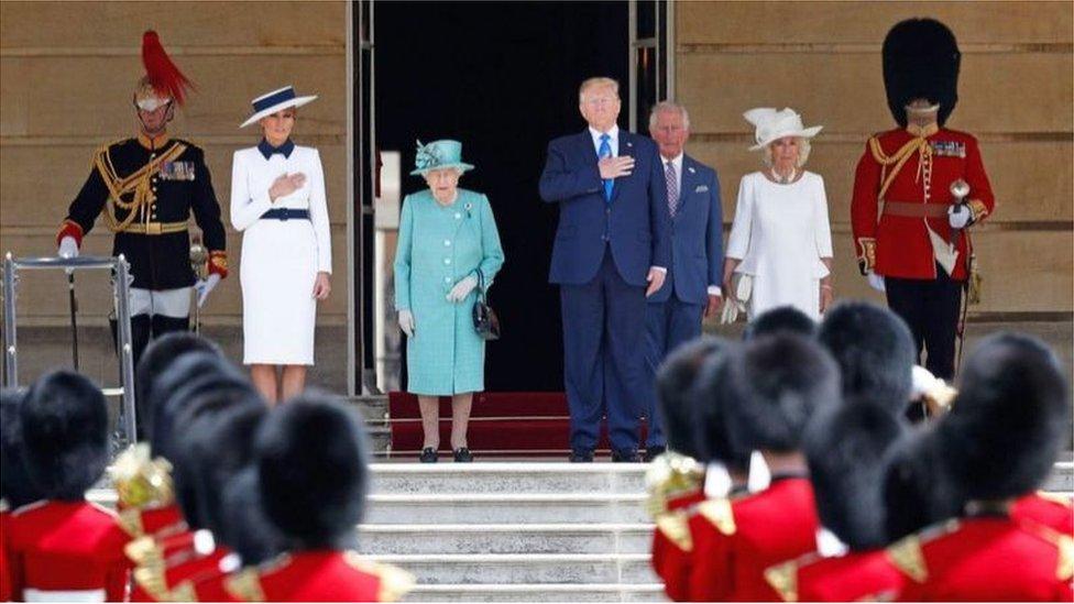 特朗普2019年對英國進行國事訪問(Credit: AFP)