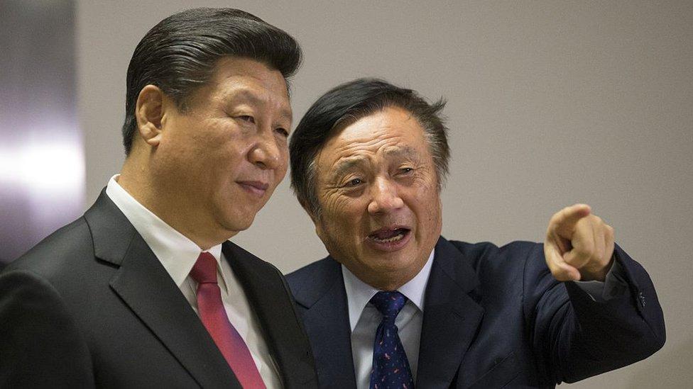 Xi Jinping y Ren Zhengfei