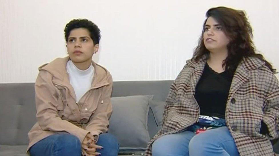 وفاء ومها السبيعي في مقابلة في جورجيا