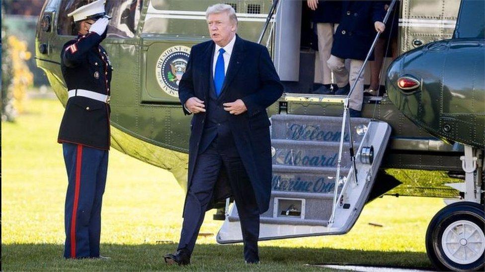 感恩節後特朗普返回白宮