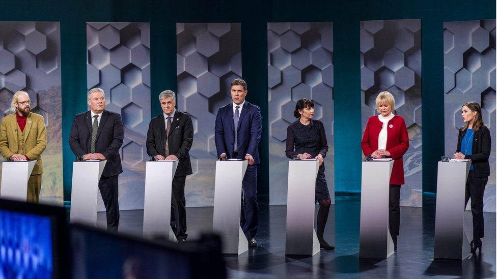 Televised debate by Icelandic party leaders. 28 Oct 2016