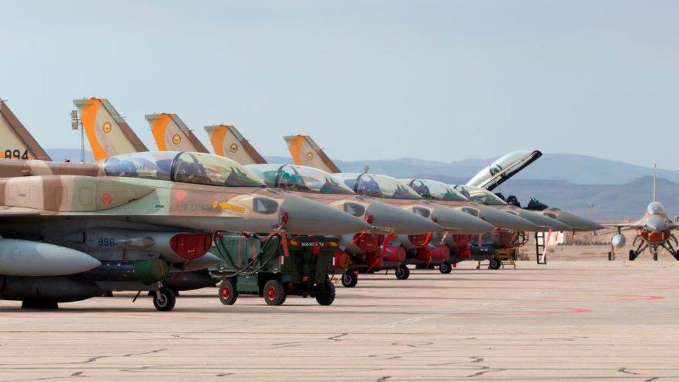Israeli F-16s (file photo)
