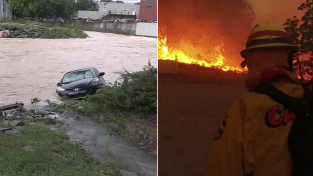 Car in floods and wild fires