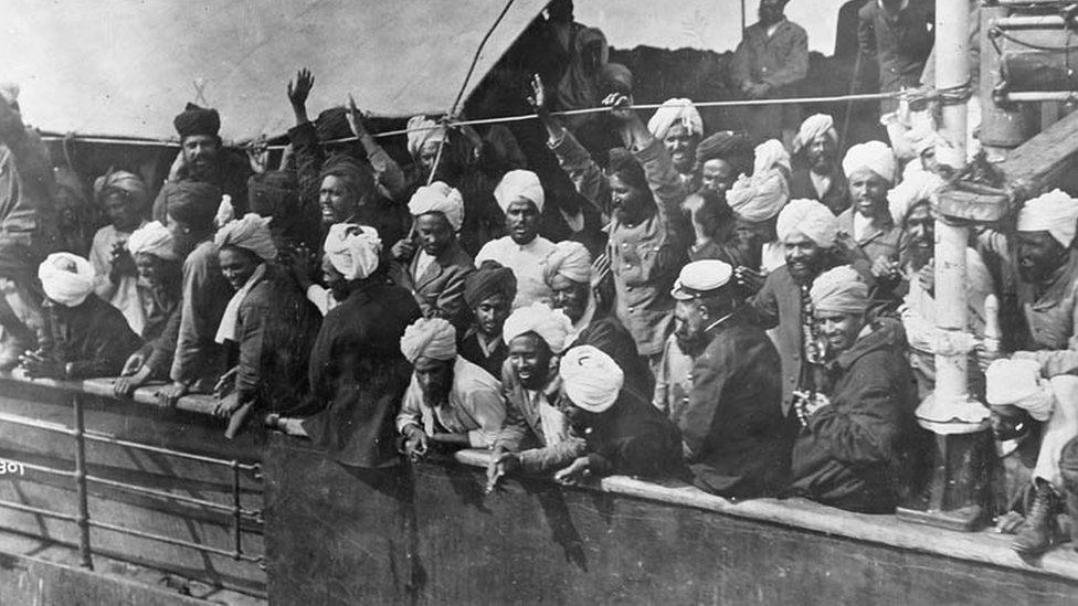 Immigrants on board the Komagata Maru in 1914