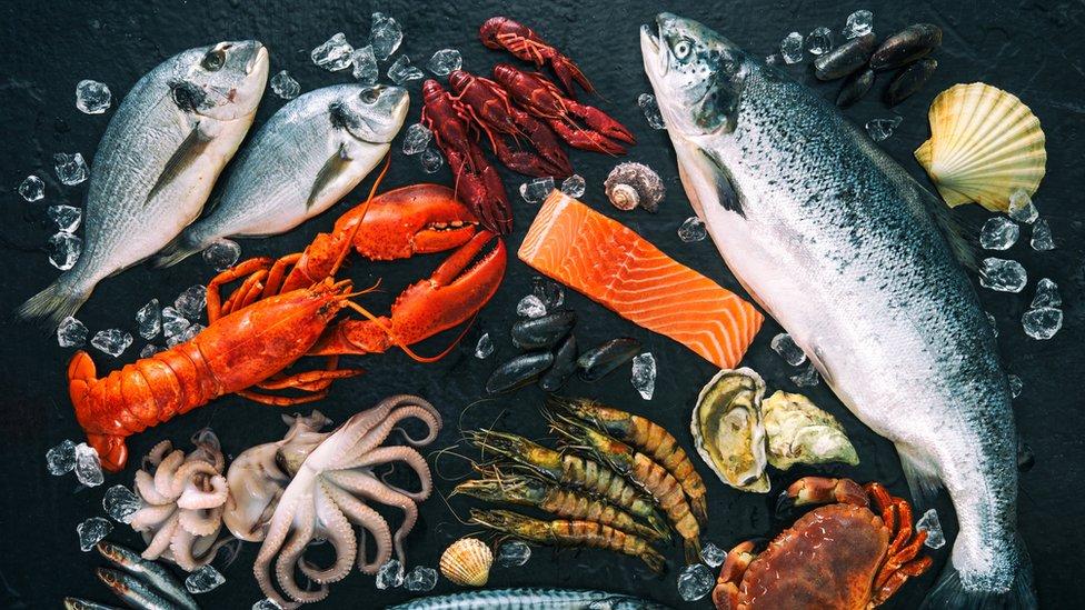 مائدة من المأكولات البحرية