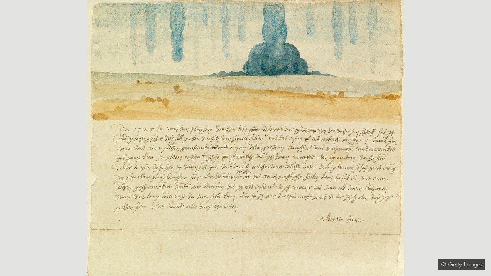 由阿爾布雷希特·杜勒創作的《夢的視覺》是已知的西方藝術中最早對藝術家個人夢境的描繪。