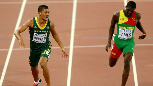 South African Wayde Van Niekerk wins the 400m