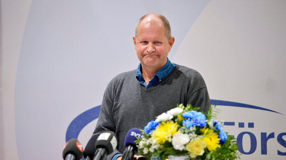National Police Commissioner Dan Eliasson holds a press conference after Swedish police ordered an investigation into allegations that officers covered up sexual assaults by mostly immigrant youths at a music festival in Stockholm, at a conference in Salen, Sweden, 11 January 2016.