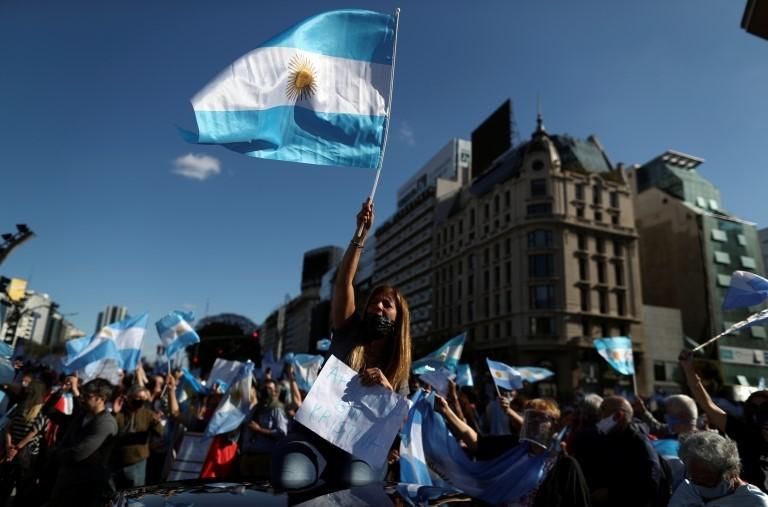 Una protesta contra el gobierno en Buenos Aires