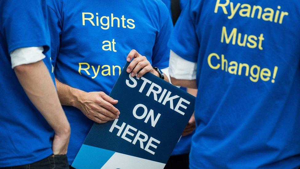 Ryanair pilots on strike