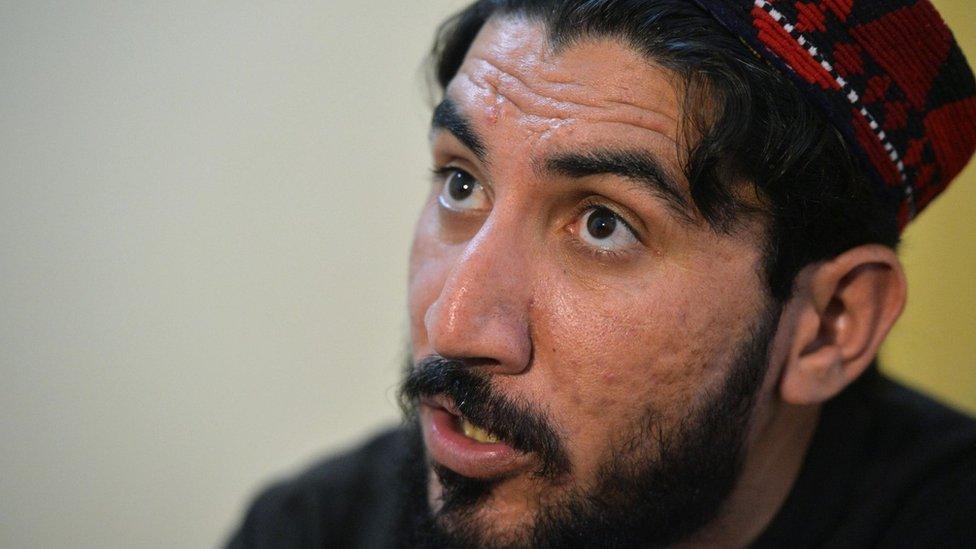 """منصور بشتين، زعيم حركة """"حماية البشتون"""""""