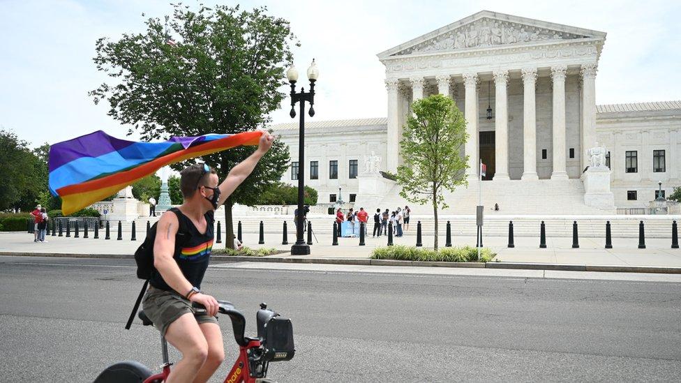 Manifestante pro-gay.