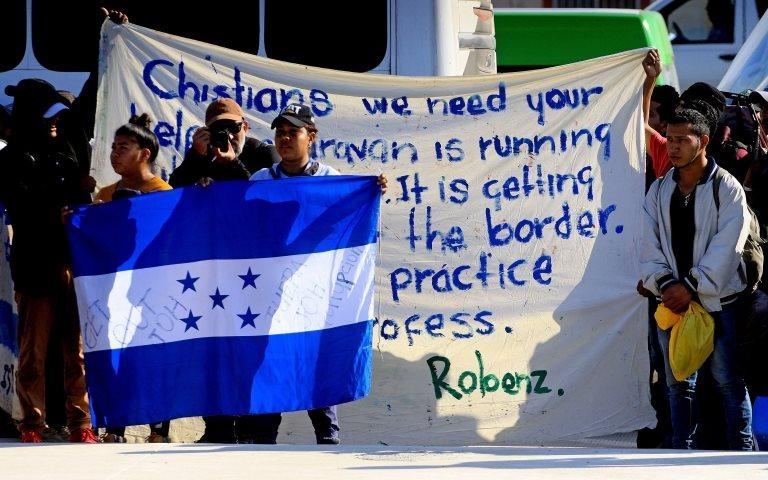 Manifestación de migrantes