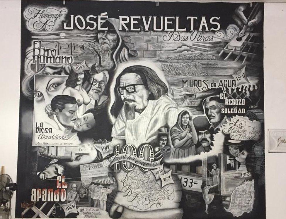Mural de José Revueltas.