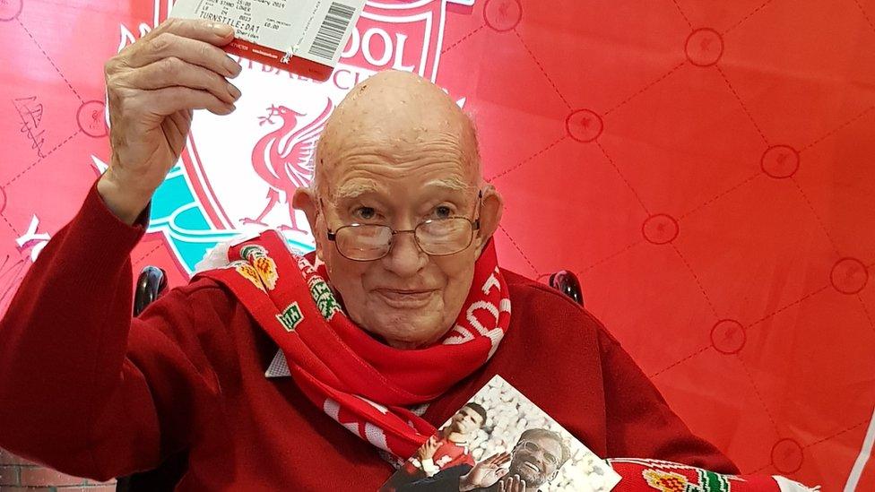 Jurgen Klopp Anfield invite for 104-year-old Liverpool fan