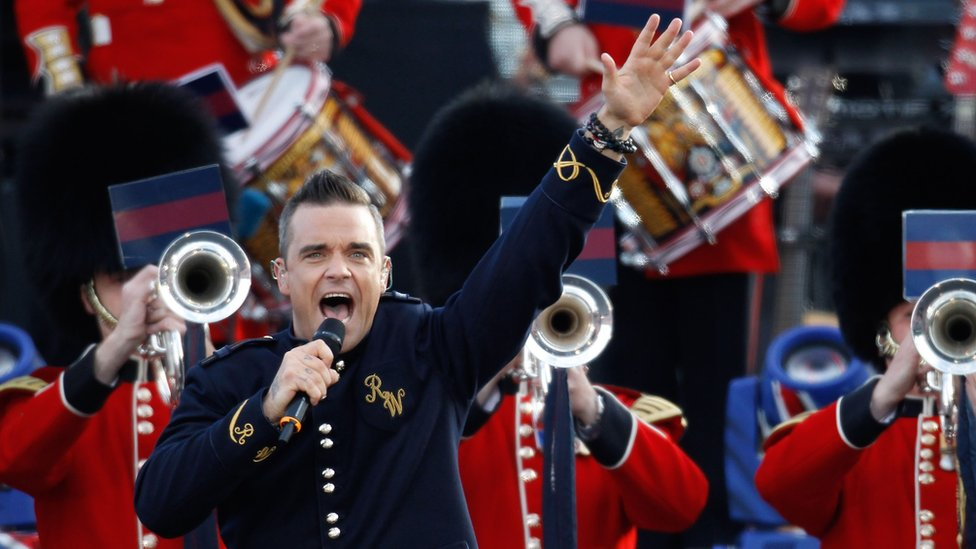 Robbie Williams at the Queen's Diamond Jubilee Concert