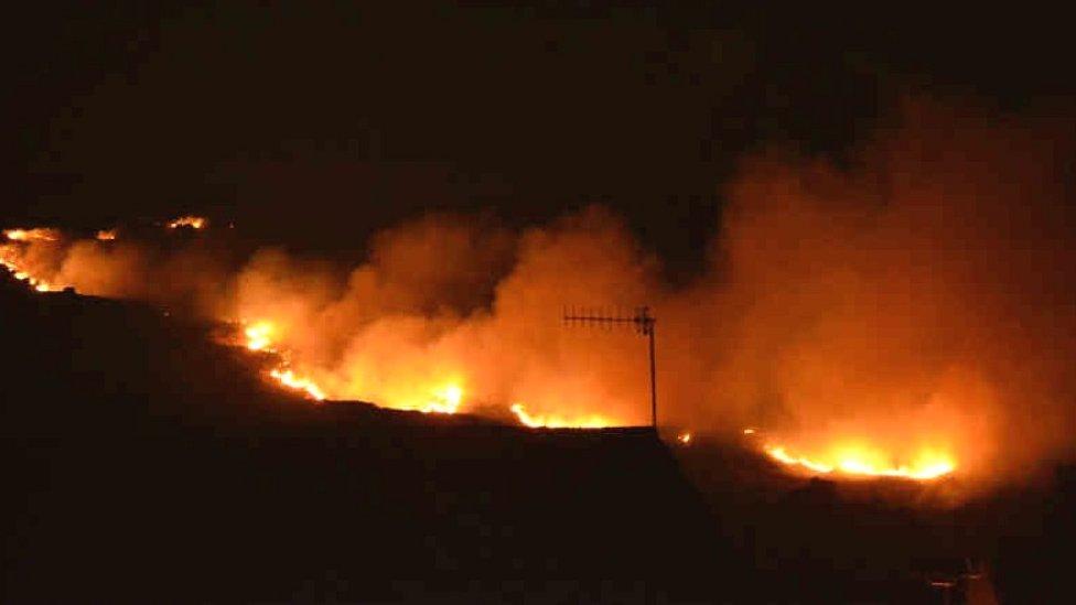 Ilkley Moor fire: Arrests made over blaze