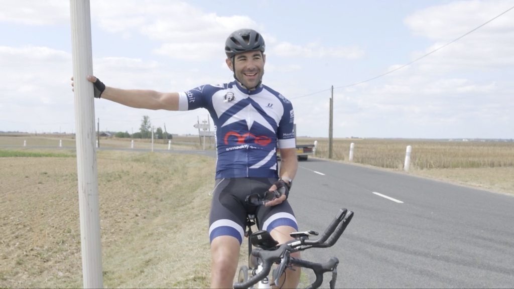 Cyclist breaks Europe record to highlight mental health struggles