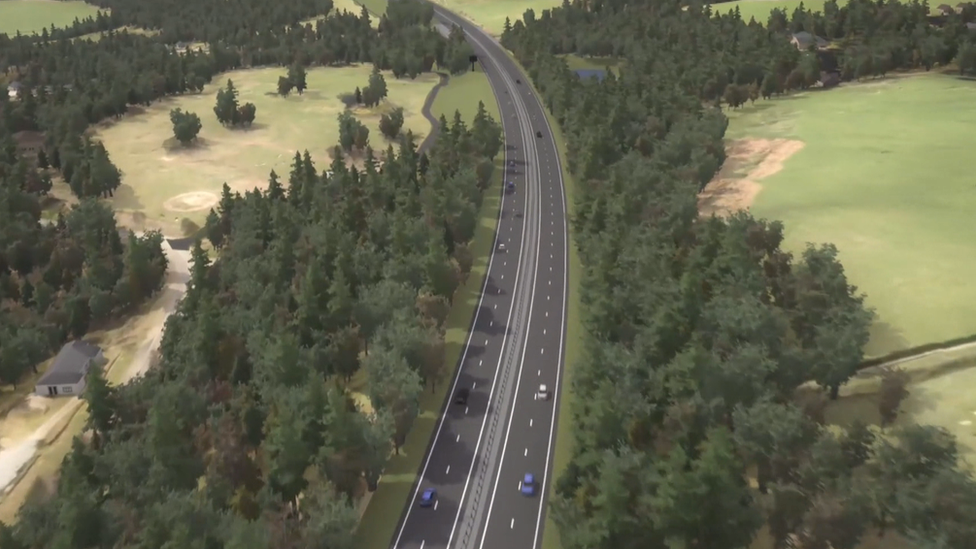 Proposed A9 dualling route