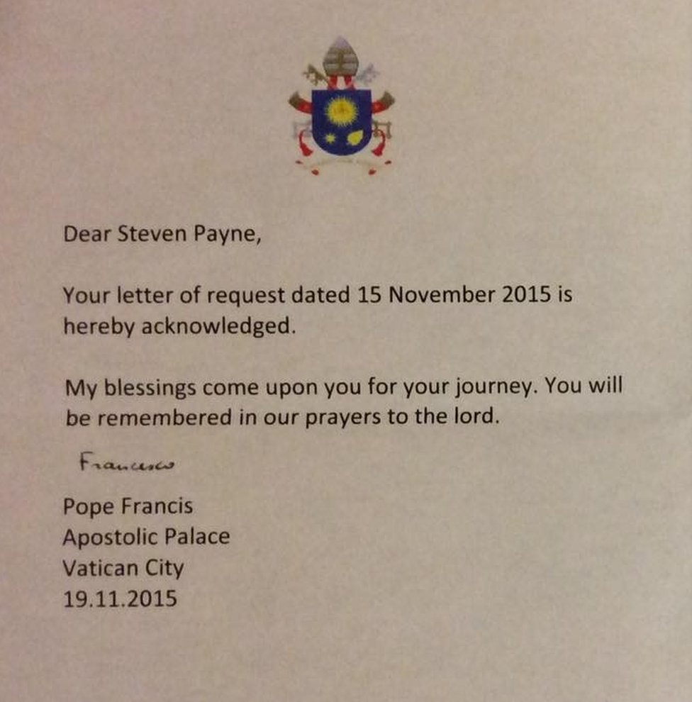 Letter from the pope