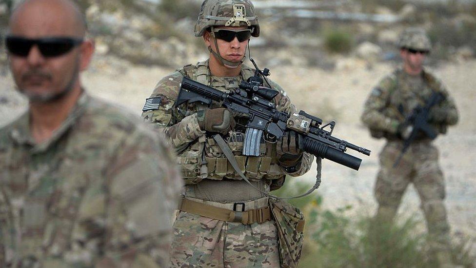Soldados estadounidenses en Afganistán en 2015.