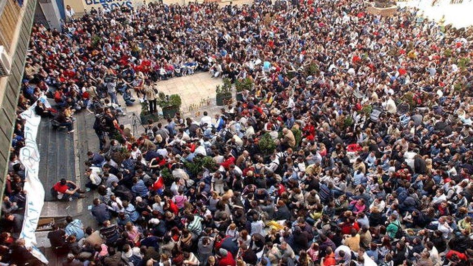 demonstracije Beograd mart 2004.
