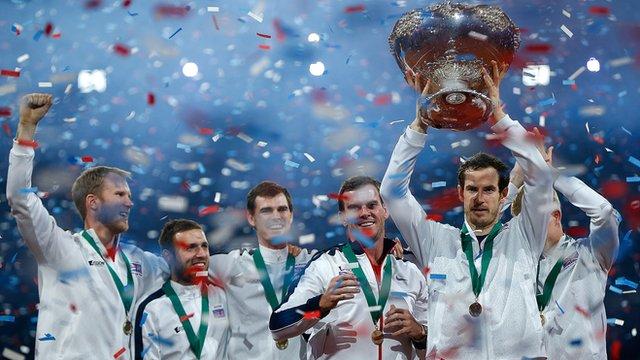 Team GB lift the Davis Cup