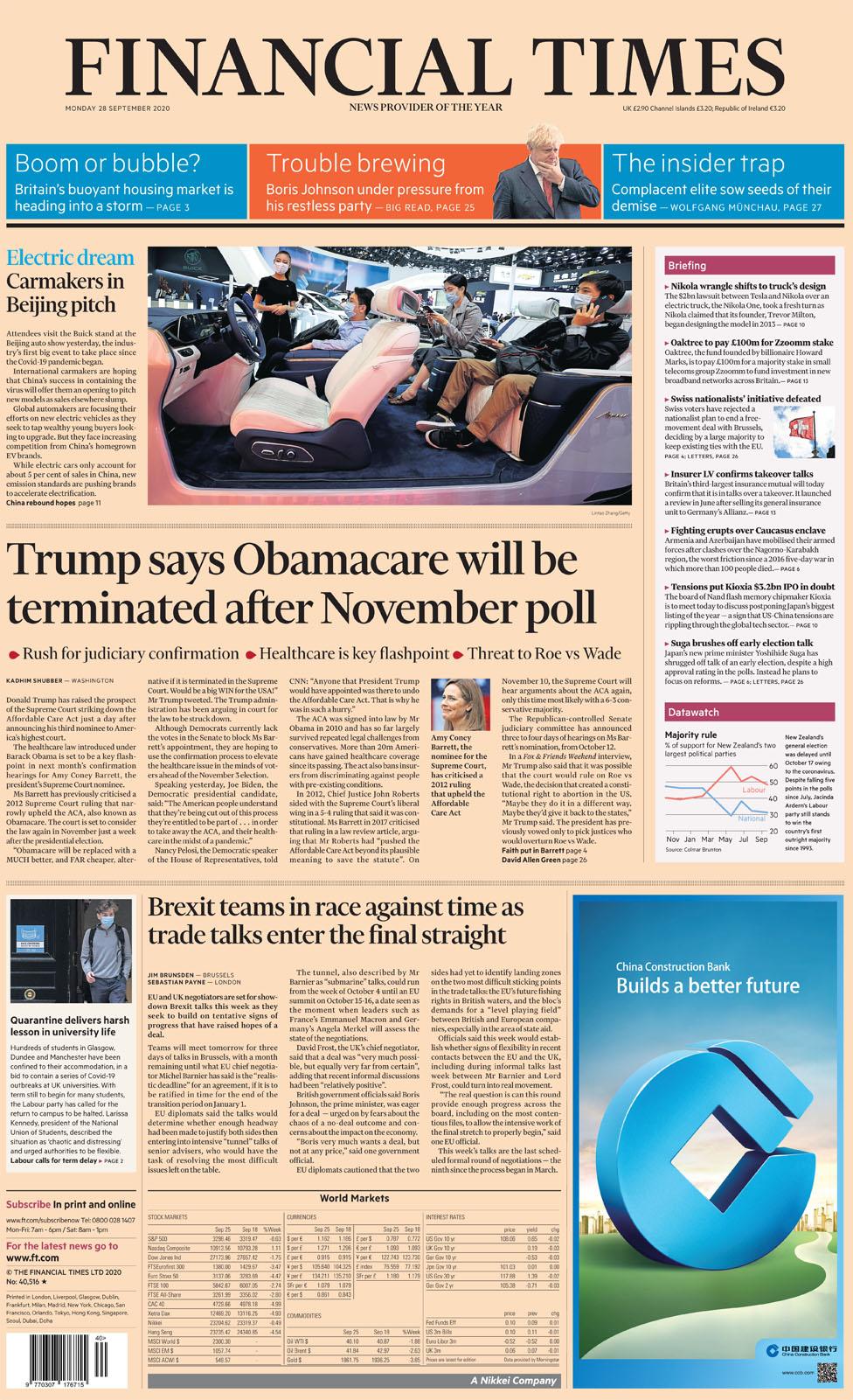 Financial Times Monday 28