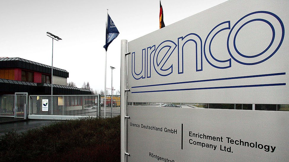 Cartel de la empresa Urenco.