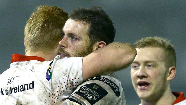 Rory Scholes, Darren Cave and Stuart Olding all scored tries in Ulster's 32-13 win over Treviso