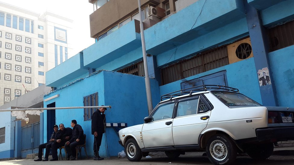 Mortuary in Cairo where the body of Giulio Regeni was brought (4 February 2016)