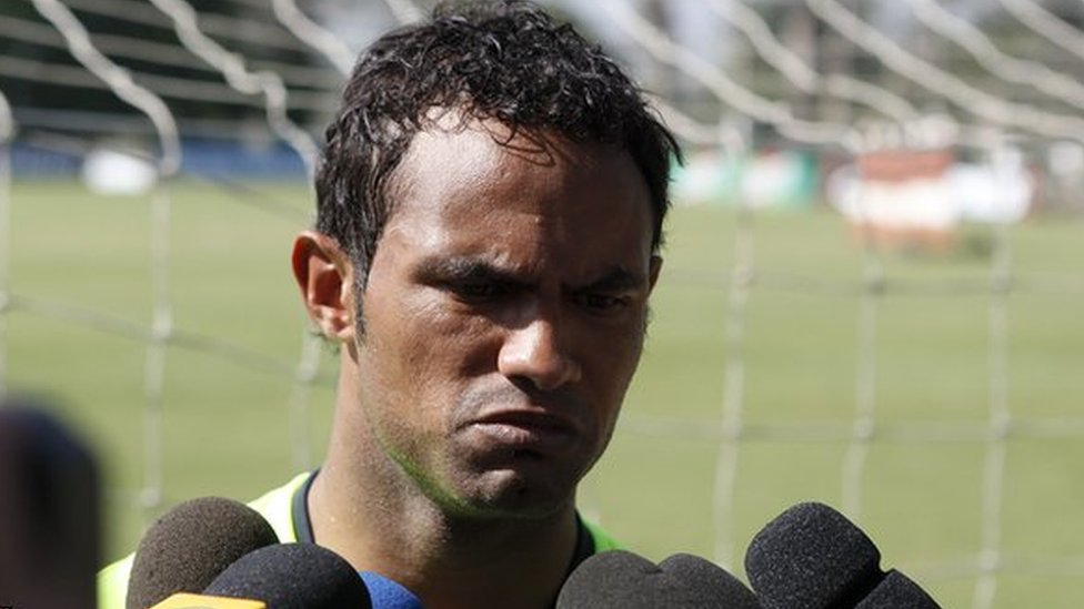 Bruno, pictured in July 2010 at Flamengo's training ground in Rio