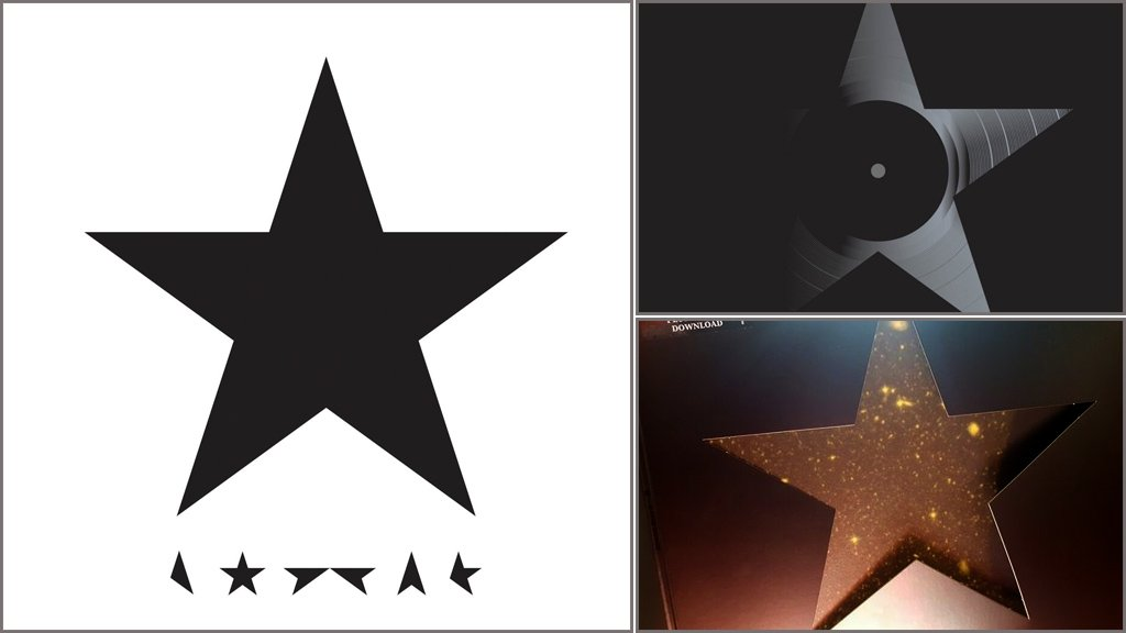The various sleeves for Blackstar