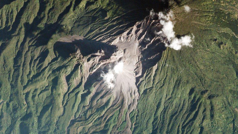 Planet拍攝的危地馬拉聖瑪利亞火山(Santa María)圖片