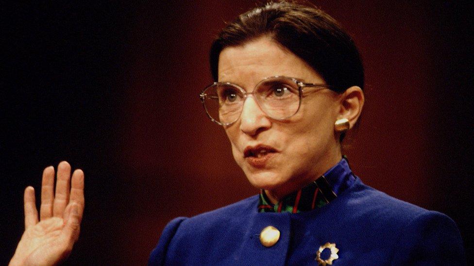 Ginsburg at her Senate confirmation hearing