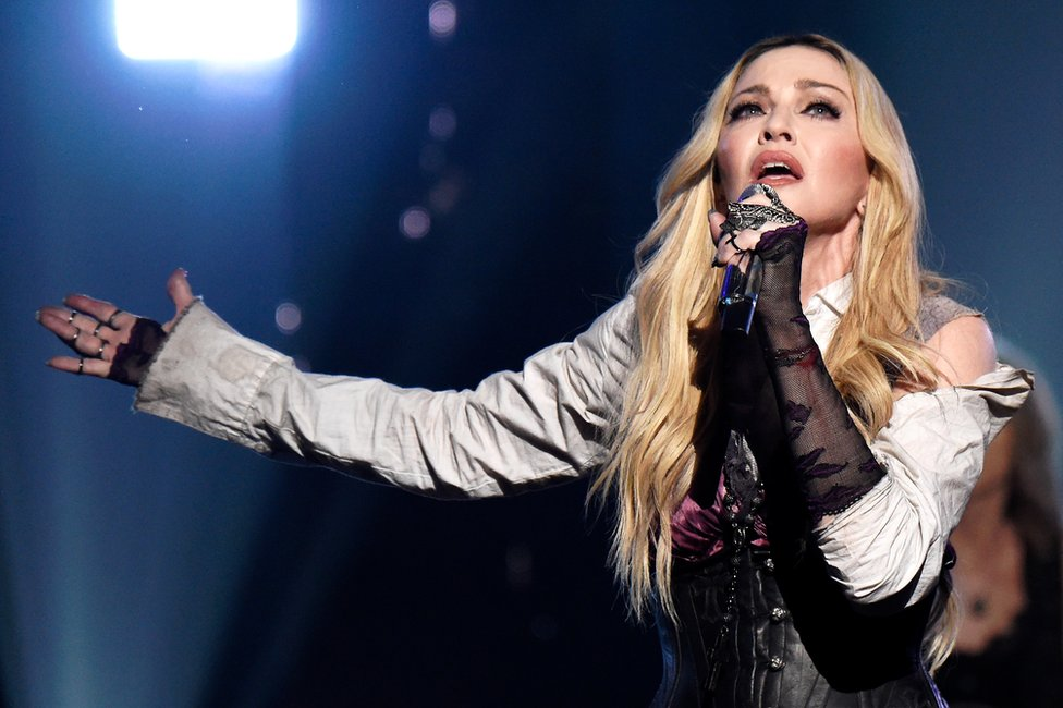 Madonna performs onstage during the 2015 iHeartRadio Music Awards on March 29, 2015 in Los Angeles, California